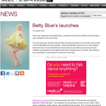 Launch of Betty Blues in Lingerie Buyer