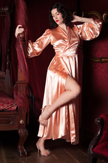 Peach Bettie Robe