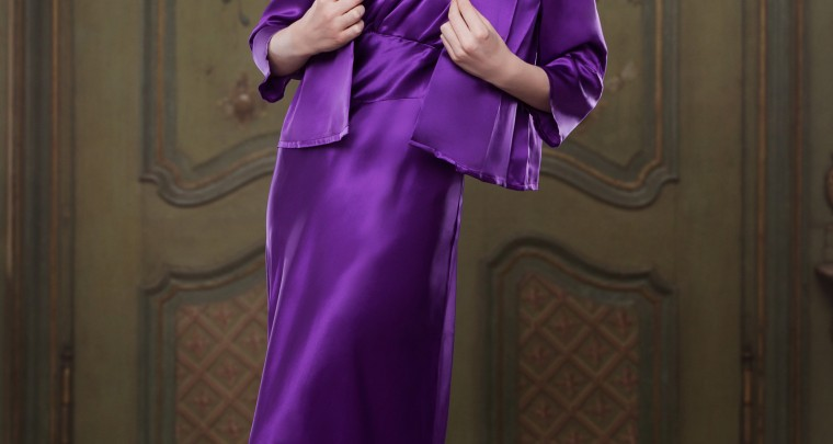 NEW PRODUCT ALERT: Heather 100% Silk Bettie Bed Jacket