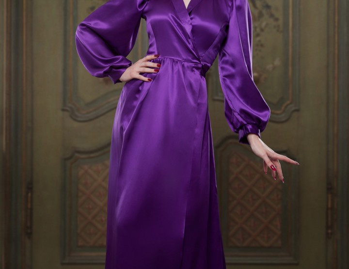 NEW PRODUCT ALERT: Bettie Robe in Heather 100% Silk Satin