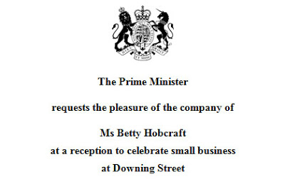 Betty was invited to meet the Prime Minister at number 10 Downing Street