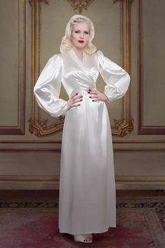 Bettie Robe, silk bridal robe