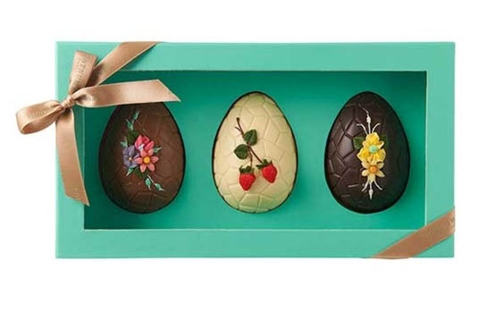 Fortnum and Mason Three Beautiful Decorated Eggs