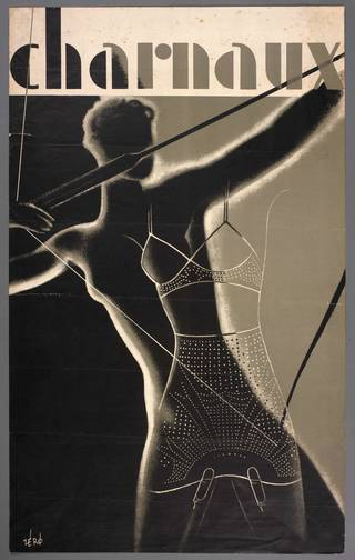Advertising poster designed by Hans Schleger for the Charnaux Patent Corset Co. Ltd, about 1936