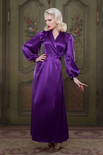 Bettie Heather Silk Robe